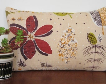 Vintage Cushion Cover Autumn Leaves