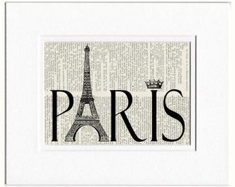 Paris dictionary page print