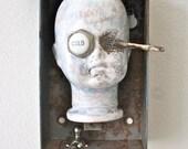 Cold Waste - Original Vintage Altered Doll