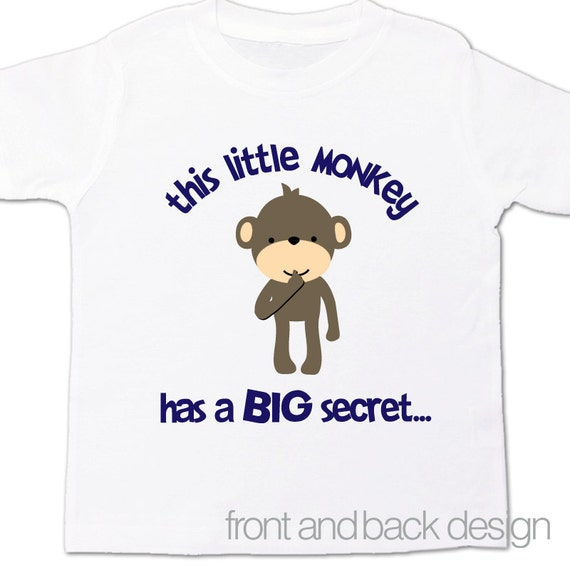 big brother to be shirt personalized monkey pregnancy announcement tshirt