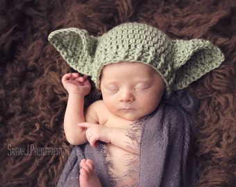 Baby Yoda Hat STAR Wars Preemie Newborn 0 3m 6m Crochet Photo Prop Baby Clothes Boys Girls Gender Neutral Daddys Fathers Day Gift So Cute