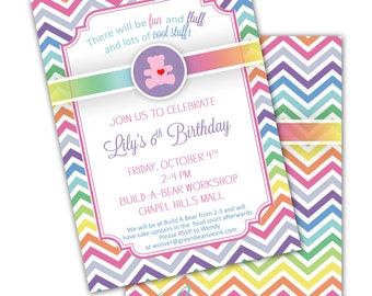 TEDDY BEAR Building Workshop Printable Party Invitation - Printing Available