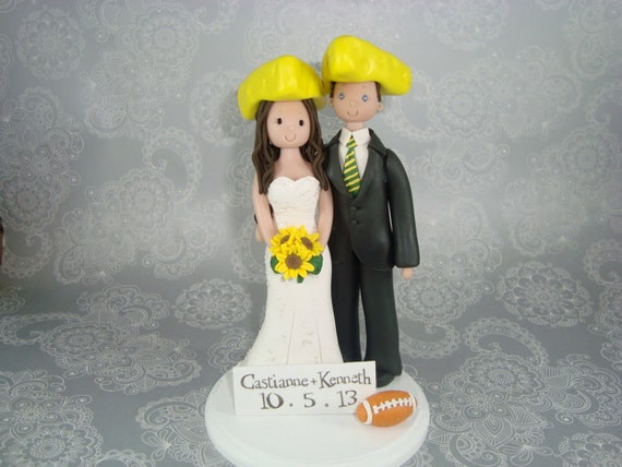 green bay wedding cake topper unavailable listing on etsy 14967