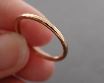 Rose Gold Ring rose gold filled hammered stacking ring made in Australia