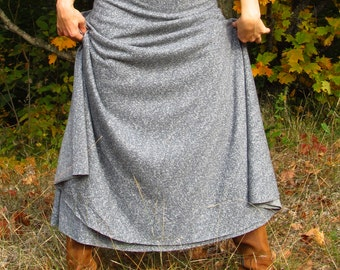Organic Hemp and Cotton Full Length Wrap Skirt - Custom Made - Several Colors Available