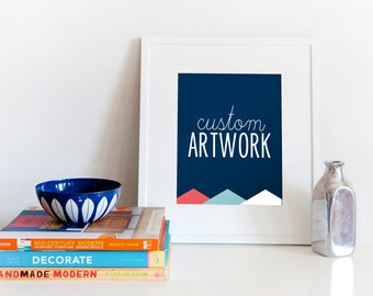 Create Your Own Custom State Love Artwork // 5x7 / 8x10 / 11x14 Digital Print