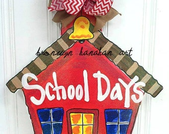 School House Door Hanger - Bronwyn Hanahan Art