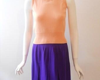 VTG Purple Pleated Skirt