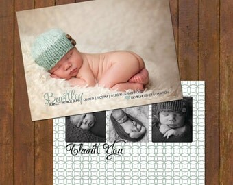 Baby Announcement Thank You Card - 2 sided