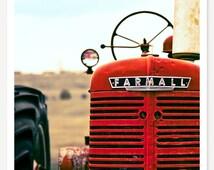 Farmall - Red Tractor Photo - Farm Photography - Red Tractor Wall Art  - Tractor Print - Kids Wall Art - Color Photograph - Farmhouse Decor