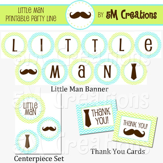 chevron little man party package little man printables mustache
