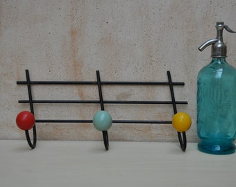 Retro French Atomic Wall Hooks - Mid-Century Modern Decor