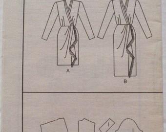 Women's Sewing Pattern - Wrap Dress - Butterick 3006 - Sizes 18-20-22, Bust 40 - 44, Uncut