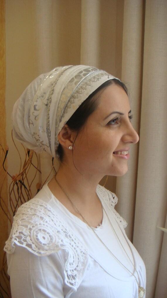 israeli shabat scarf hair covering apron style tichel