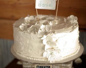 Custom Name Birthday Cake Topper, Birthday Party Cake Banner, Baby Shower Decor