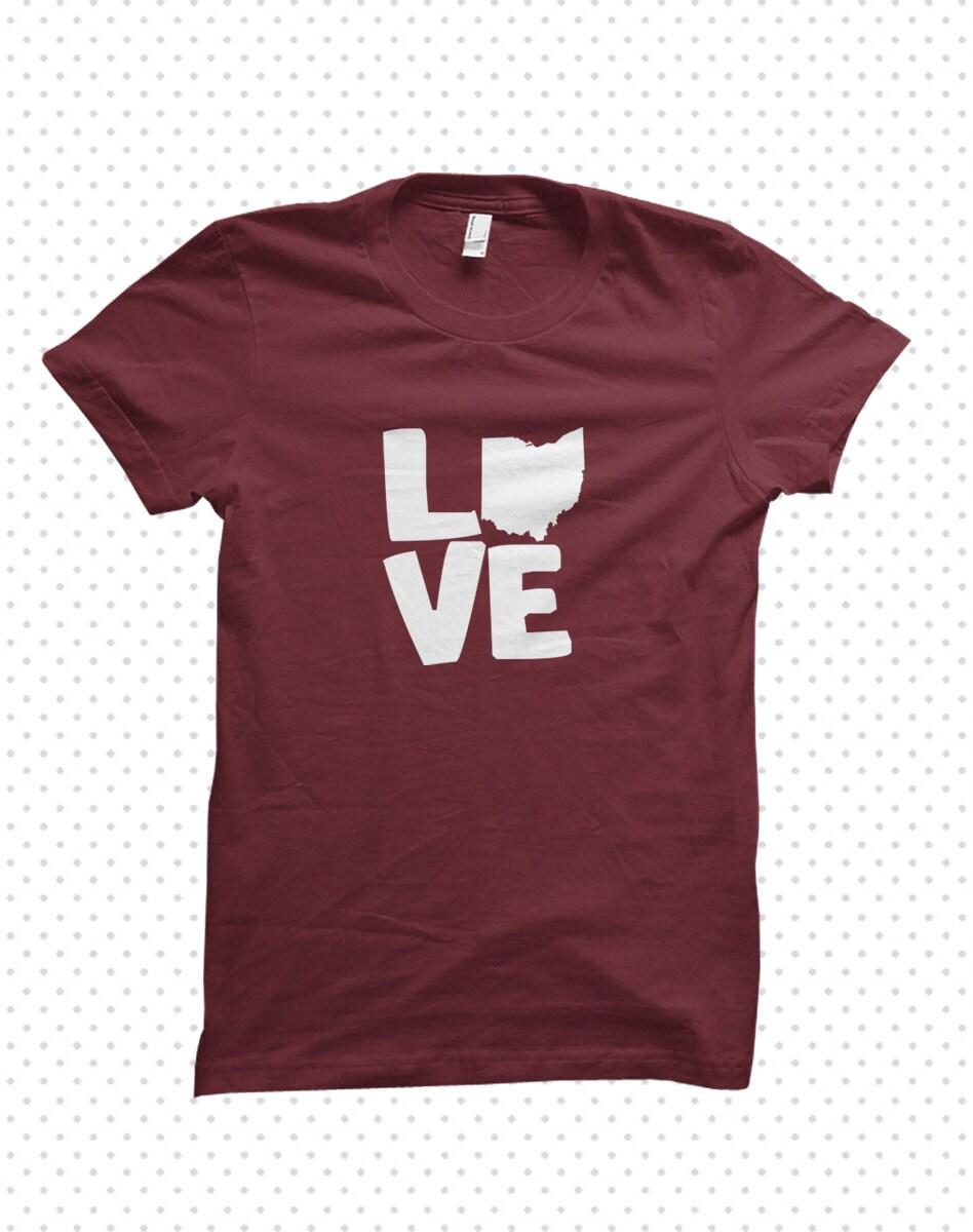 Love My State Ohio T Shirt Made To Order By Threadandgrain