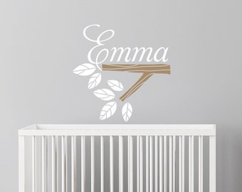 Wall Decal Custom Name - baby girl nursery decal, personalized girls name