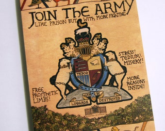 Join the Army - a satirical anti-army recruitment comic by Darren Cullen
