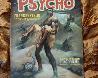 Psycho No 3 Skywald Comic Book 1971 Frankenstein Heap Love Witch Obscura Oddities Sci Fi Horror