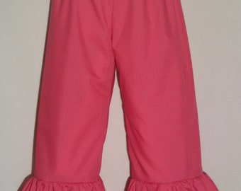 Boutique Ruffle Pants or Shorts / Hot Pink / Birthday / Newborn / Infant / Baby / Girl / Toddler / Custom Boutique Clothing
