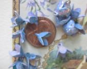 Wonderful Vintage Verigated Lavender Blue   Metal Flowers