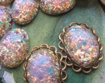 Milky Fire Opal  Cabochons With Or Without Setting