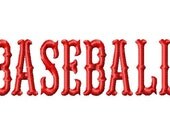 BASEBALL - Machine Embroidery Design - 16 Sizes