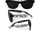 Adventure Time Sunglasses - Custom Wayfarer style sunglasses unique hand painted - Finn and Jake