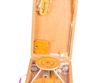 Box Charkha (Traditional) crafted in India.