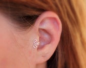 Double Wrapped Loop Tragus/Nose/Ear Cuff, Non Pierced Cuff Now choose Sterling Silver