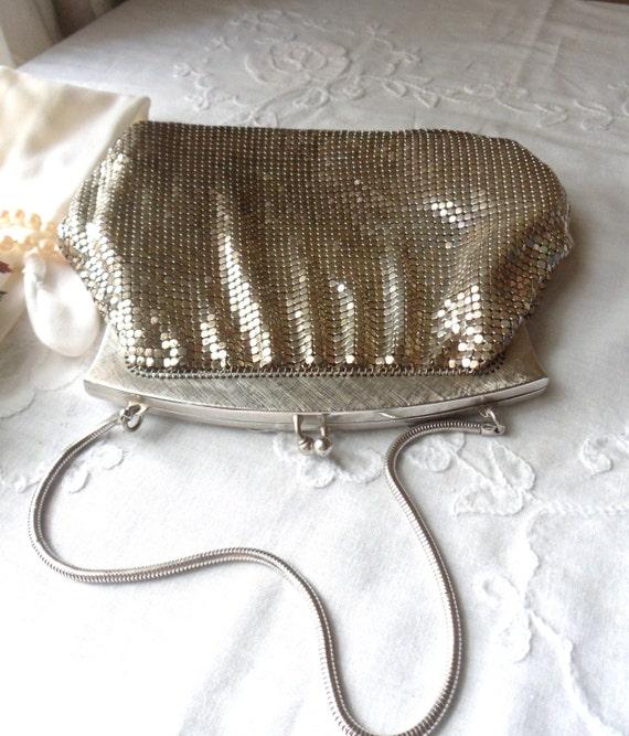 Whiting and Davis Mesh Purse, Silver Armor Mesh Evening Bag