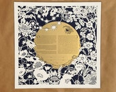 Moon & Flowers papercut ketubah