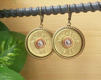 Shotgun Shell Jewelry ~ 12 Gauge Winchester Earrings