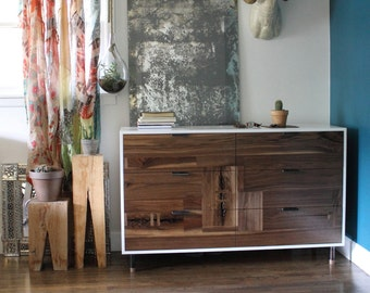 Walnut Patchwork Dresser