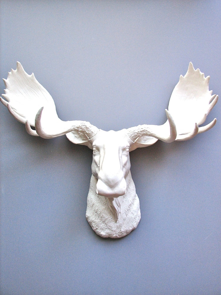 Faux Taxidermy Moose Head Wall Hanging Wall Decor By