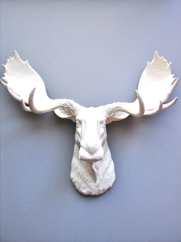 Faux taxidermy moose head wall hanging wall decor home decor - Fake moose head ...