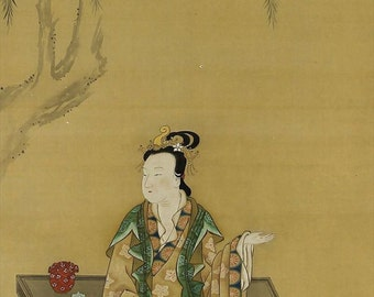 Antique Japanese Art Scroll Painting Chinese Beauty – 130712