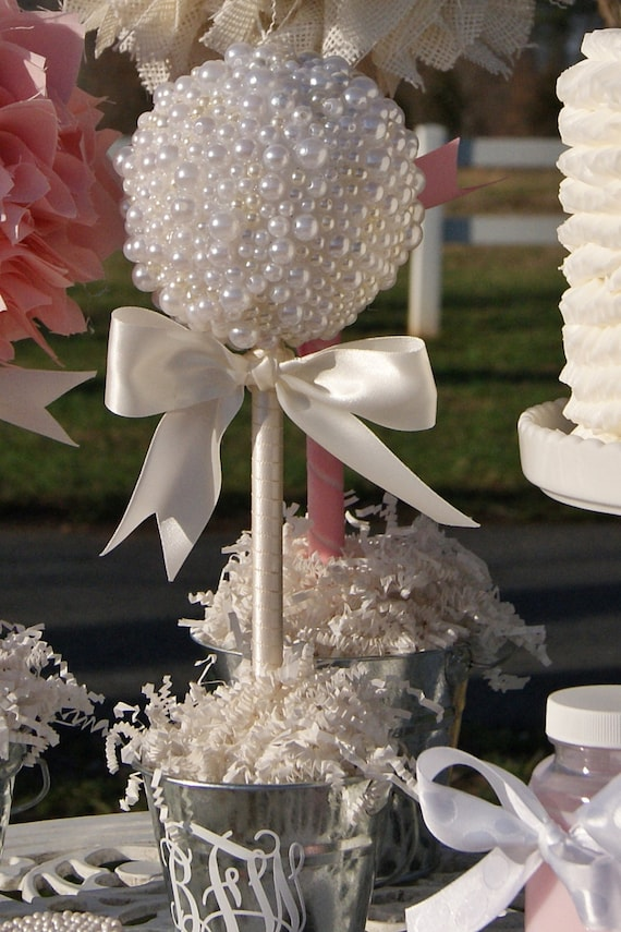 PEARL TOPIARY CENTERPIECE Baptism Center By