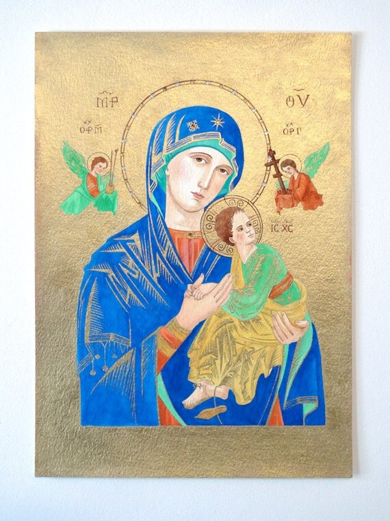 Our Lady of Perpetual Help - Religious Icon Watercolour