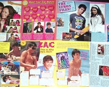 ZAC EFRON - High School Musical, Hairspray, Charlie St Cloud, The Lucky One, Neighbors - Color Articles for Scrapbooking - Batch 1