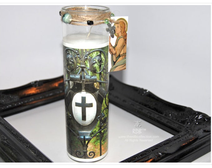 Cross Shield Gate Art Candle