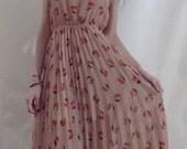 Nude Cherry Vintage Maxi Dress