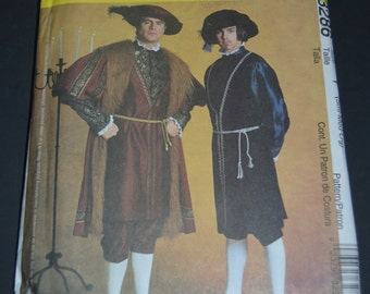 McCalls 3286  Mens Tudor Costume Sewing Pattern - UNCUT - Size Sml - Med- Lrg