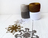 yarn for CHRISTMAS decorations-2ply Linen crochet thread Collection for crochet snowflakes