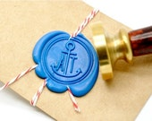 B20 Wax Seal Stamp Personalized Nautical Wedding Custom Double Initials Anchor