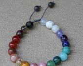 Chakra bracelet  FREE SHIP- Mediation Inspired Yoga Beads BOHO jewelry/bracelet / mala beads