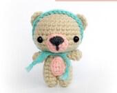 PDF Crochet Pattern, Amigurumi Pattern - Cutie Bear - Instant Download