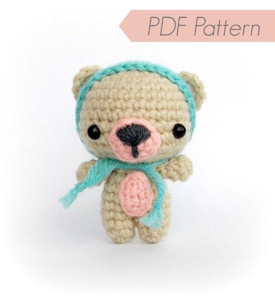 PDF Crochet Pattern Amigurumi Pattern Cutie Bear Instant