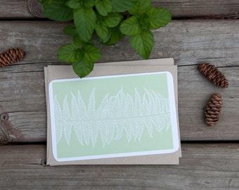 Fern Blank Card Set, Green Fern Print, Gift