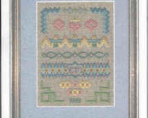 1998 Bargello Sampler Kit by Serendipity Designs, designed by Carolyn Meacham, with Zweigart 28 Count Linen Fabric